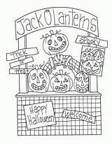 Lantern Jack Halloween Booth Deariedollsdigis Coloring sketch template