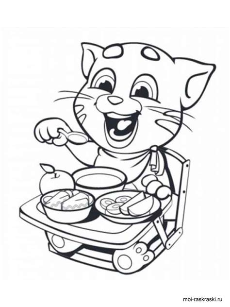 talking tom coloring pages  printable coloring pages  coloringonlycom