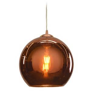 access lighting glow brushed copper mini pendant light