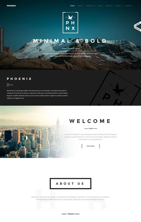 minimalist website templates   rock