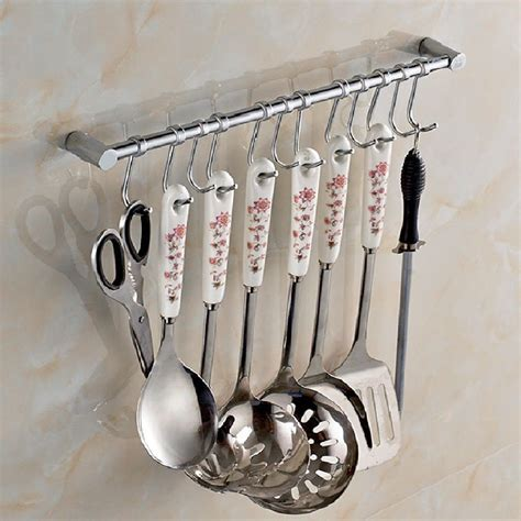 kitchen wall organizers kitchen cupboard wall mounted 12 hooks tool utensils 3457