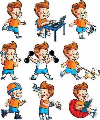 Hobbies Hobby Boy Clipart Vector Activities Happy