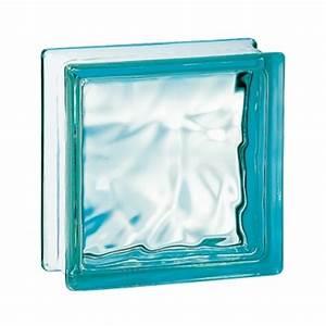 Brique De Verre Couleur : brique de verre couleur turquoise 19x 9x8 cm nuag ~ Melissatoandfro.com Idées de Décoration