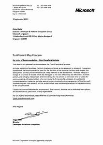 letter of recommendation microsoft With microsoft office letter of recommendation template