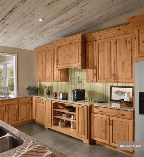 natural rustic alder cabinets kraftmaid rustic alder kitchen cabinetry in natural