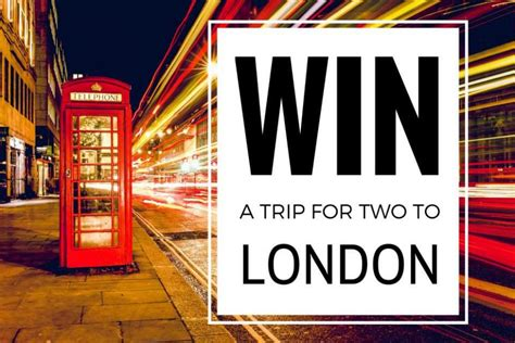 Win A Free Trip To London For 2 This Fall Finished