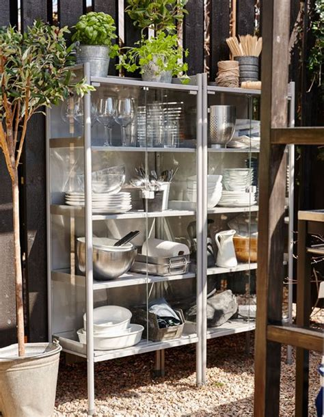 outdoor küche ikea set up a outdoor kitchen cabinet for barbecue season no need to traipse back indoors for that