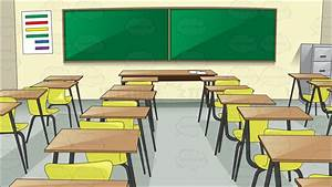A Basic Classroom With Chairs And Desk | Vector clipart ...