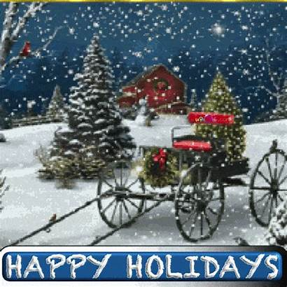 Merry Christmas Happy Farm Wishes Animated Ecard