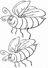 Bumblebee Coloring Insect sketch template