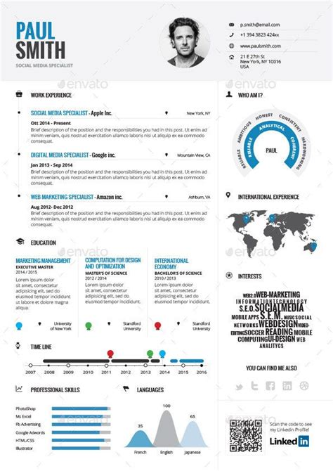 infographic resume vol 1 by paolo6180 graphicriver cv