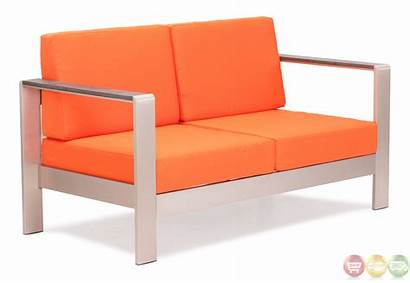Cushions Sofa Outdoor Modern Orange Zuo Cosmopolitan