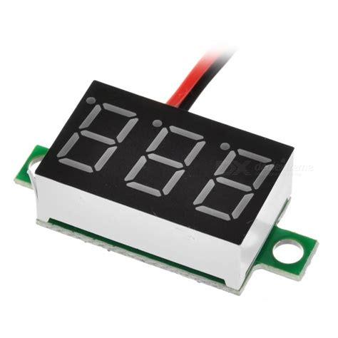 3 digit 2 wire dc 4 5 30v led digital voltmeter voltage display module free shipping dealextreme