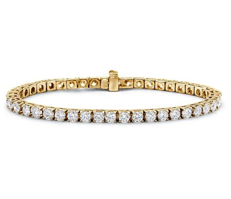 Diamond Tennis Bracelet In 18k Yellow Gold (7 Ct Tw. Lunar Phase Watches. Courage Bracelet. Cluster Engagement Rings. Original Grain Watches