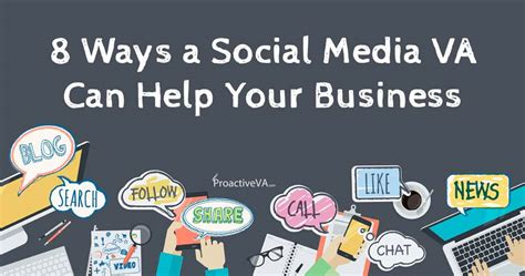 ways  social media virtual assistant    business