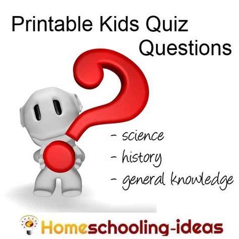 Kids Quiz Jar  Free Kids Trivia Questions