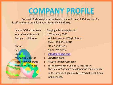 8+ Information Technology Company Profile Sample Company