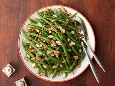 best ever green bean thanksgiving recipe green beans with caramelized onions and almonds recipe florence food network