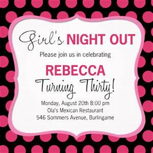 Birthday Party Invitations - Girl's Night Out by Mixbook
