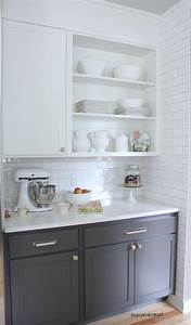 Kitchen : Simple Gray Kitchen Cabinets With Nice Drawers