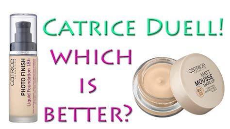 foundation catrice catrice duell photo finish foundation vs matt mousse