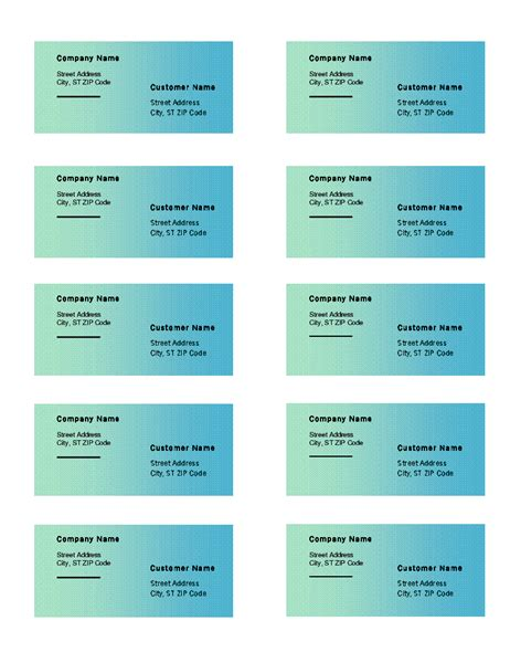 Shipping Labels Green Gradient Design 10 Per Page Works Shipping Labels Green Gradient Design 10 Per Page Works