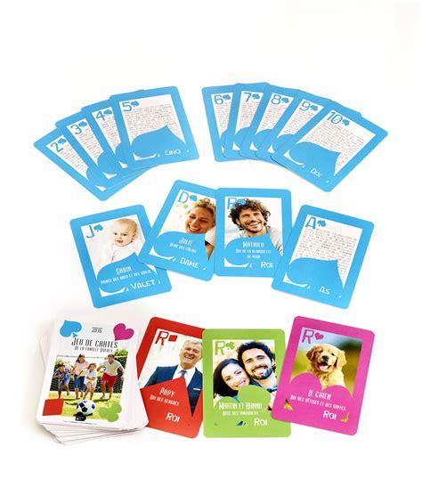 jeu de carte personnalis 233 avec les quot personnages quot de la famille