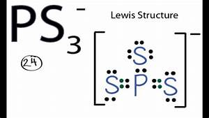 Ps3- Lewis Structure  How To Draw The Lewis Structure For Ps3 -1