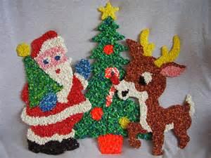 christmas melted plastic popcorn decorations lot1 3 pcs reindeer