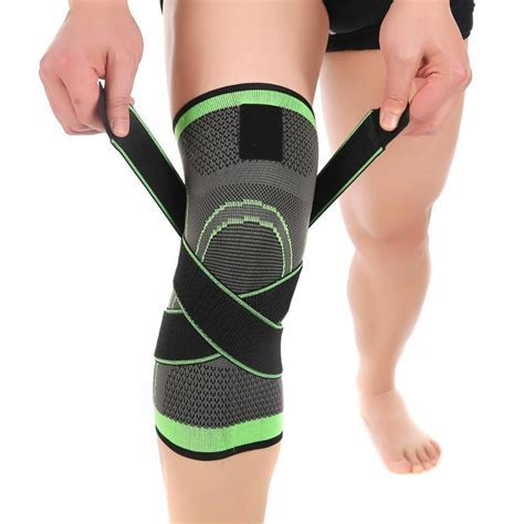 Knee Support Brace Sleeve with Adjustable Strap for Pain