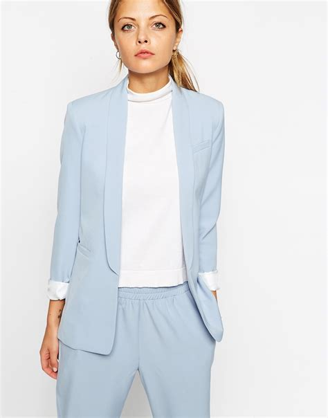 Light Blue Womens Suit Dress Yy