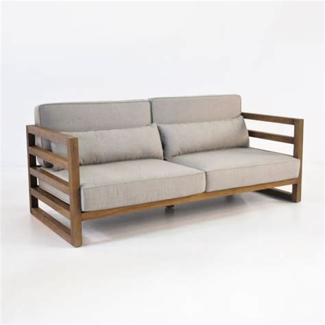 manhattan reclaimed teak outdoor sofa patio couch teak