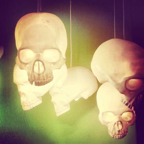 hanging skull lights horror decor goth home skull decor gothic house
