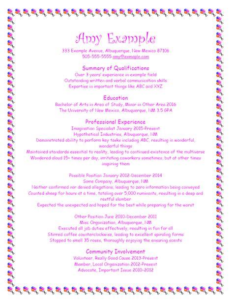 good resume format bad resume format unm career