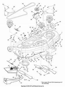 Mtd 13az614h452  2003  Parts Diagram For Deck Assembly 46 Inch