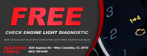 free check engine light scan automotive experts west columbia sc tires auto repair
