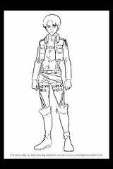Levi Coloring Titan Attack Ackerman Anime Chibi Colouring Drawing Titans Captain Adult Drawings Printable Armin Arlert Step sketch template
