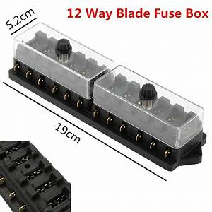 12v Car Truck Boat 12 Way Circuit Standard Blade Fuse Box