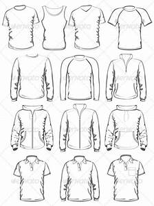 collection of men clothes outline templates graphicriver With clothing templates for illustrator