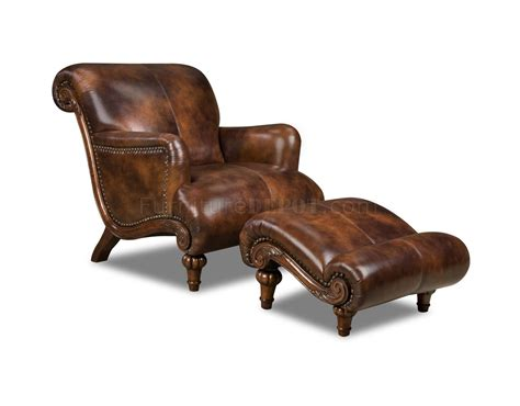 leather chair and ottoman cognac brown top grain leather traditional chair ottoman