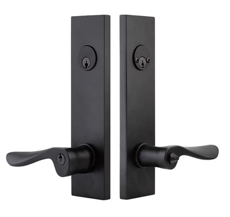 Unlacquered Brass Cabinet Hinges by Emtek Modern Rectangular Two Point Keyed Entry With Choice