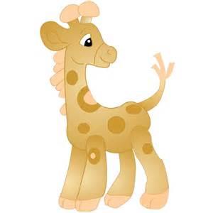 Baby Giraffe Cartoon Clip Art