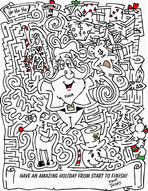 christmas mazes  coloring pages  kids