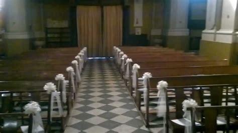 chaise romaine fait maison décoration église mariage