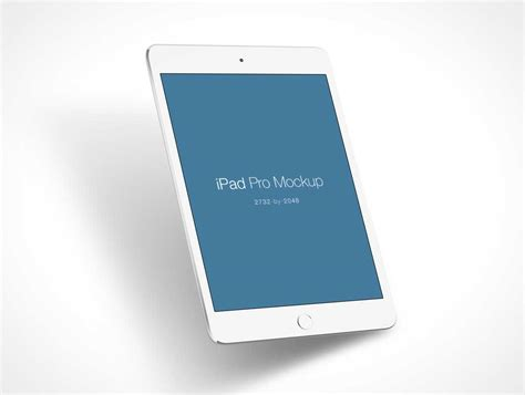 iPad Pro PSD Mockup White Model   PSD Mockups