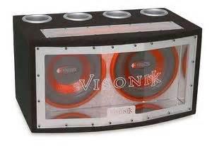 Visonik V212BP Bandpass Loaded Car Sub Boxes Sonic
