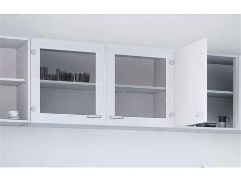 element haut cuisine conforama elément haut vitré cuisine l 98 2 cm casa coloris blanc