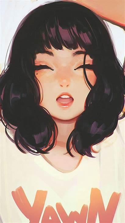 Kuvshinov Ilya Illustration Smile Iphone Anime Wallpapers