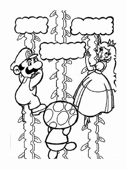 Mario Bros Coloring Coloriage Pages Super Princess