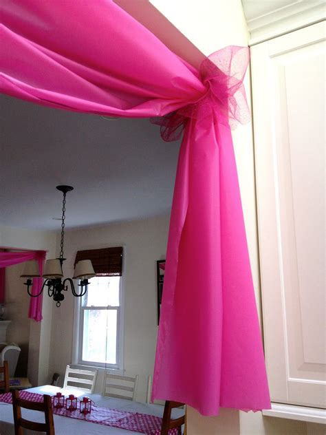 Decorating Ideas Using Plastic Tablecloths by Use 1 Plastic Tablecloths To Decorate Doorways And
